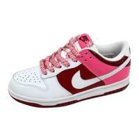 Nike Women's Dunk Low White/White-Varsity Red-Team Red 317813-114