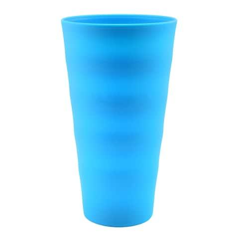 Break-Resistant Plastic Cups 18oz, Reusable Design