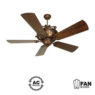 "Craftmade K10765 Toscana 54"" 5 Blade Indoor Ceiling Fan - Blades Included - peruvian"