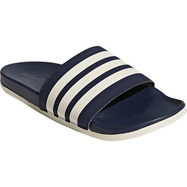 bac7ef9b7 adidas Men  x27 s adilette Cloudfoam Plus Stripes C Sandal Collegiate  Navy Chalk