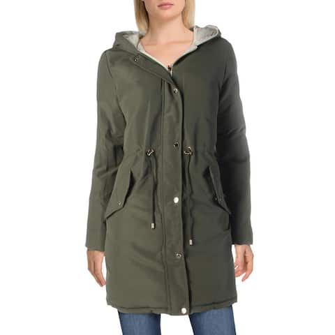Marc New York by Andrew Marc Womens Liberta Parka Coat Winter Reversible