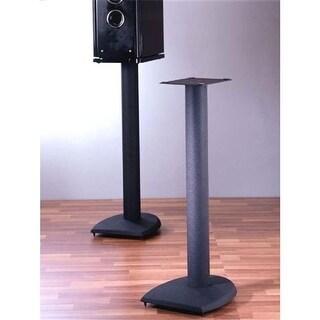 36 in. H, Iron Center Channel Speaker Stand - Black