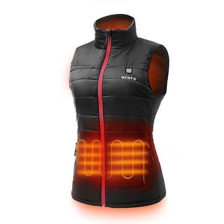 ororo Women's Lightweight Heated Vest with Battery Pack, Black, Size X-Large