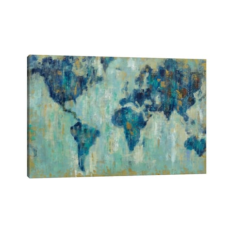 "iCanvas ""Map Of The World"" by Silvia Vassileva Canvas Print"