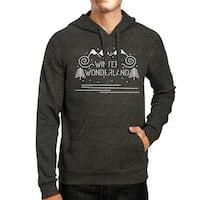 Winter Wonderland Unisex Dark Grey Winter Hooded Sweatshirt Gift