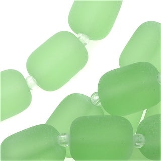 Link to Cultured Sea Glass, Barrel Nugget Beads 13x10mm, 13 Pieces, Peridot Green Similar Items in Jewelry & Beading