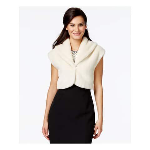 ALFANI Womens Ivory Bolero Coat Size L