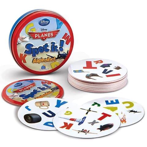 Disney's Planes Spot It Alphabet Kids Card Match Game  Educational Fun (Ages 3+)