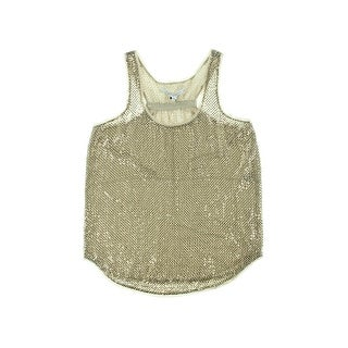 Diane Von Furstenberg Womens Pellina Silk Sequined Tank Top - 19