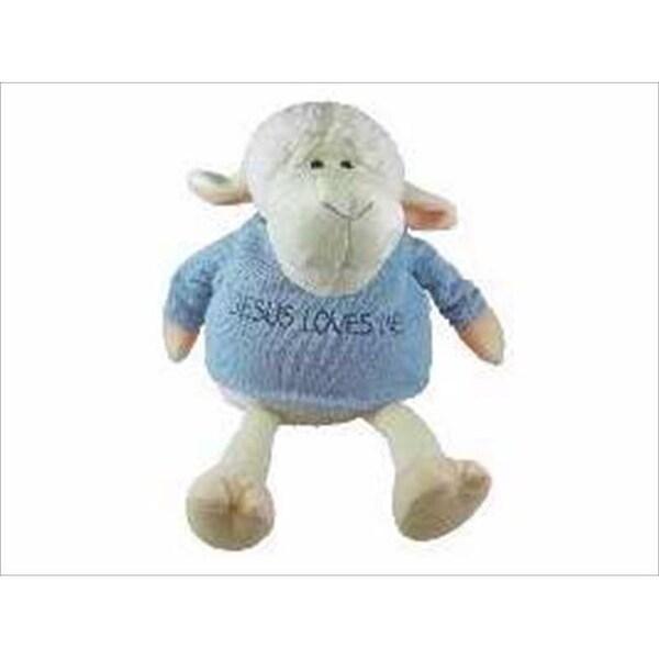 Shop Toy Plush Lamb Boy Sitting Jesus Loves Me 9 In Free Shipping