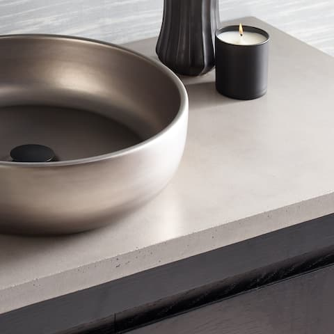 NativeStone Concrete Vanity Top - Vessel Sink Cutout with Single Faucet Hole (Top Only)