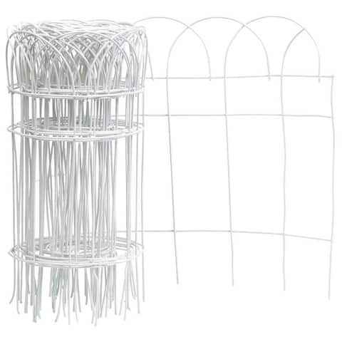 "Panacea 89307 Flower Border Fence Roll, 14"" x 20', White"