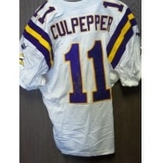 finest selection 28125 93016 Signed Culpepper Daunte Minnesota Vikings Authentic Minnesota Vikings  Jersey size 48 autographed
