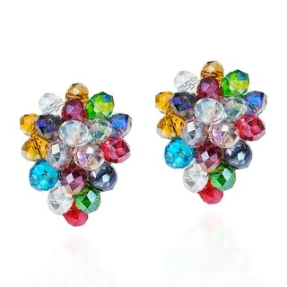 Link to Handmade Tropical Forest Multicolor Crystals Grape Clip On Earrings (Thailand) Similar Items in Earrings