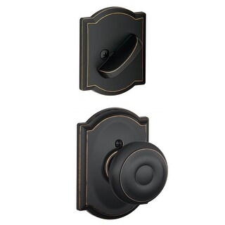 Schlage F94-GEO-CAM Georgian Dummy Interior Pack with Deadbolt Cover Plate and Decorative Camelot Trim (4 options available)