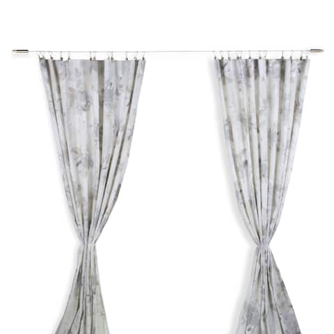 Wallniture Drape Wire Curtain Rod with 48 Clips Tapestry Wall Hanging Photo Display (Set of 2)
