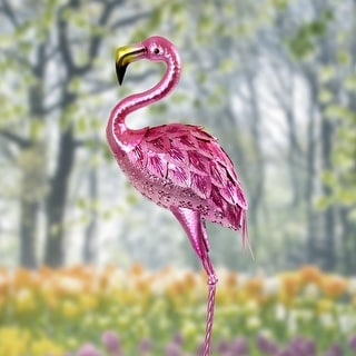 Exhart Colorful Metallic Coastal Bird Garden Statue