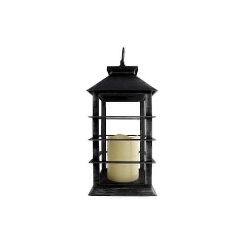 30010459 darice lantern plastic led w timer black