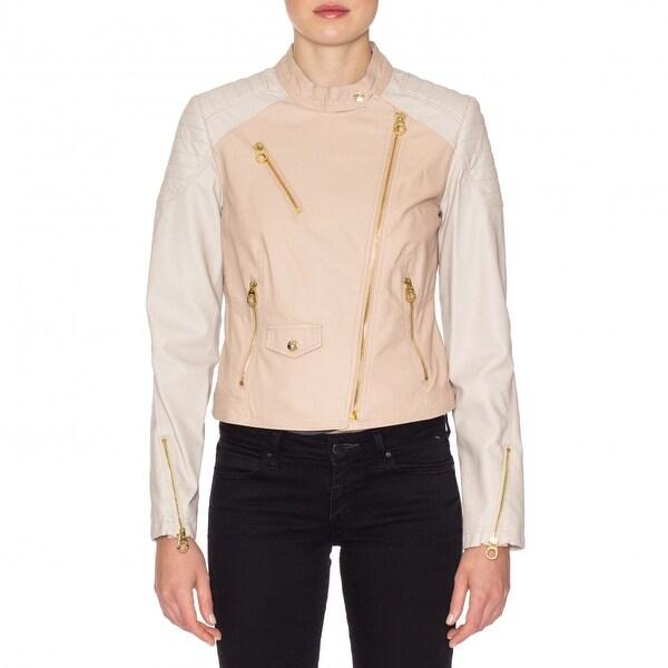 Laundry by Shelli Segal  Faux Leather Zip Moto Jacket
