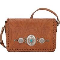 b25e30eada American West Women s Lariat Love Crossbody Flap Bag Wallet Golden Tan - US  Women s One