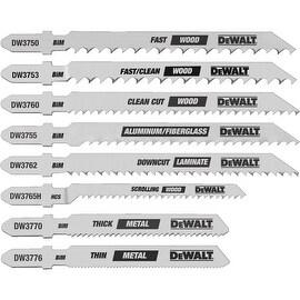 DeWalt 8Pc Jigsaw Blade Set