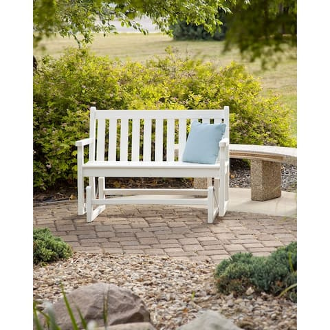 POLYWOOD® Traditional 48-inch Outdoor Garden Glider Bench