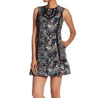Laundry by Shelli Segal Black Womens Size 4 Jacquard Sheath Dress