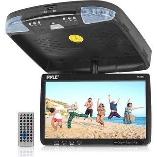 GB0410 9 in. Flip Down Roof Mount Monitor & Multimedia Disc player
