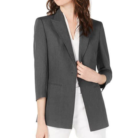 Anne Klein Womens Suit Seperates Gray Size 14 Blazer Notch-Lapel
