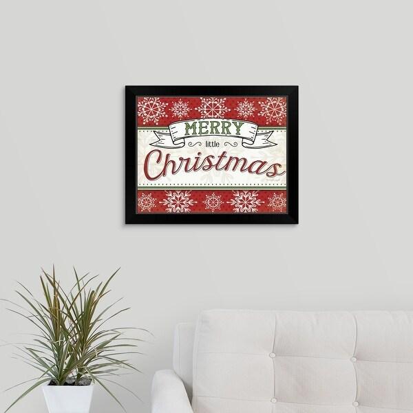 Jennifer Pugh Economy Framed Print with Standard Black Frame entitled Merry Little Christmas
