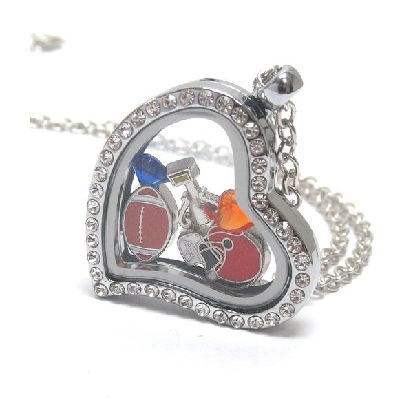 Heart Charm Locket for Football