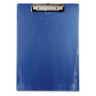 Plastic Clipboards- w-Spring Clips- .50in. Cap.- Letter- Ice Blue
