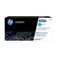 HP 656X Original LaserJet Toner Cartridge - Cyan (Single Pack) 656X High Yield Cyan Original