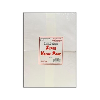 Super Value Envelope Pack 5x7 250pc White