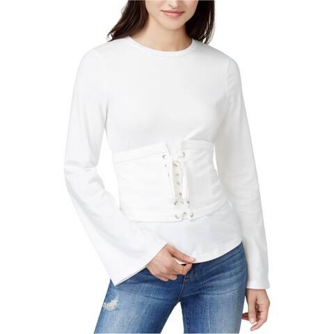 Endless Rose Womens Corset Top Embellished T-Shirt