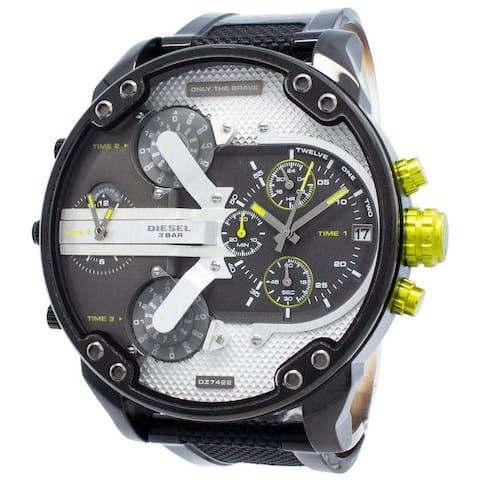 Diesel Man's DZ7422 Mr Daddy 2.0 Gray Stainless Steel Chronograph Watch - 1 Size