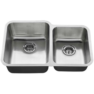 "American Standard 18CR.9312000T  American Standard 31"" Double Basin Stainless Steel Kitchen Sink for Undermount Installations -"