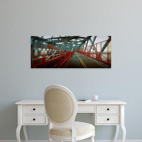 Easy Art Prints Panoramic Image 'Road across a bridge, Williamsburg Bridge, New York City, New York State' Canvas Art