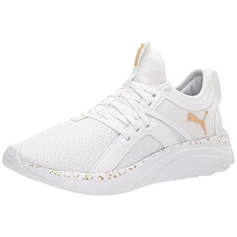 PUMA mens 37611001 Running Shoe, Puma White-puma Team Gold