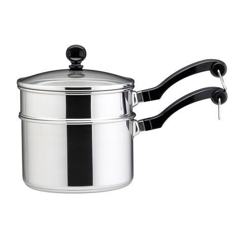 Farberware 2qt Covered Saucepan with 1.5qt Double Boiler Insert