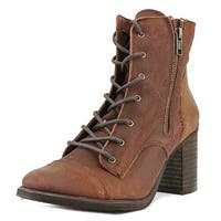 Coolway Mc-21 Women  Round Toe Leather Brown Ankle Boot