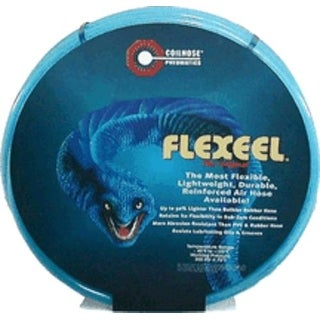 """Coilhose Pneumatics PFE6050TS15X Flexeel Hose With Quick Connect, 3/8"""" ID x 50' x 1/4"""""""