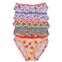 1000% Cute Girls Multi Popcorn Print 5 Piece Pack Cotton Underwear