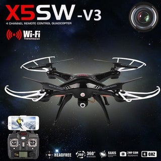 Syma X5SW-V3 Wifi FPV 2.4G RC Quadcopter Drone with HD Camera RTF Matte
