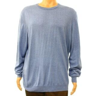 Club Room NEW Blue Men's Size Medium M Knit Crewneck Silk Sweater