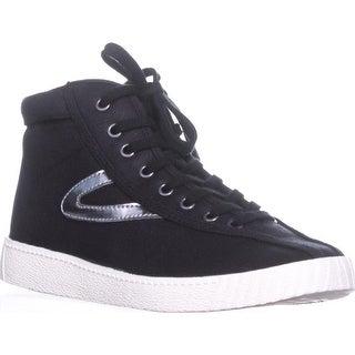 Tretorn Nylitehi Fashion Sneakers, Black/Black/Silver