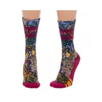 Harry Potter Junior Sublimated Crew Socks (9-11, Multicolor)