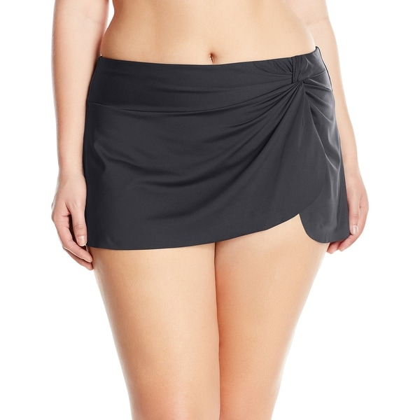 Shop Anne Cole Black Women s Size 20W Plus Sarong Skirted Swimsuit Skirt -  On Sale - Free Shipping On Orders Over  45 - Overstock - 26924835 acbf7f2be3fe