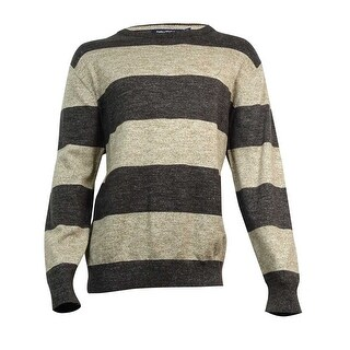 Nautica Men's Striped Crew-Neck Sweater XXL, Java Heather - java heather - XxL