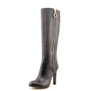 INC International Concepts Brenden Round Toe Leather Knee High Boot